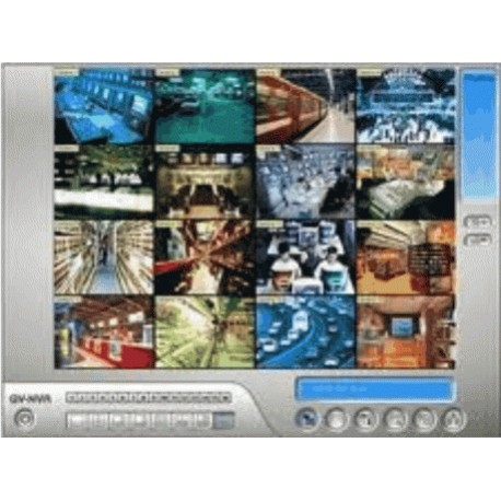 8x kamera - licence GeoVision GV-NVR - záznamový software