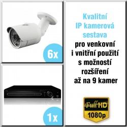 6x IP kamera 2 Mpix, HVR - kamerový systém