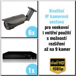 6x IP kamera 2 Mpix, 2.8-12mm, HVR - kompletní kamerový systém