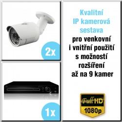 2x IP kamera 2 Mpix, HVR - kamerový systém